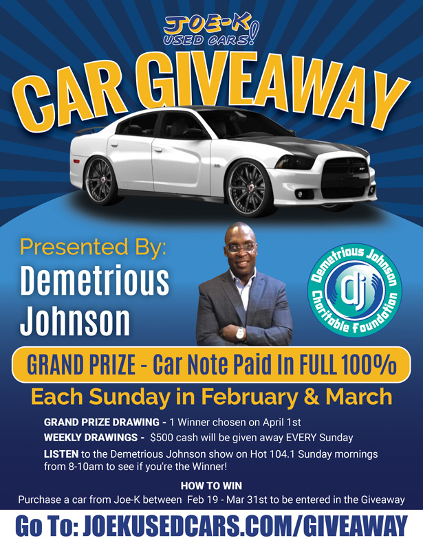 Cash & Car Giveaway